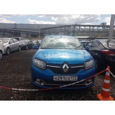 Renault Logan, светло-синий, 2016, 300 км, 1.6 МТ (113 л. с.), бензин, передний, VIN X7L4SREA455991149, г. Видное