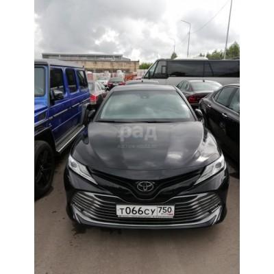 Toyota Camry, черный, 2018, пробег - нет данных, 2.5 АТ (181 л. с.), бензин, передний, VIN XW7BFYHK10S110483, г. Видное